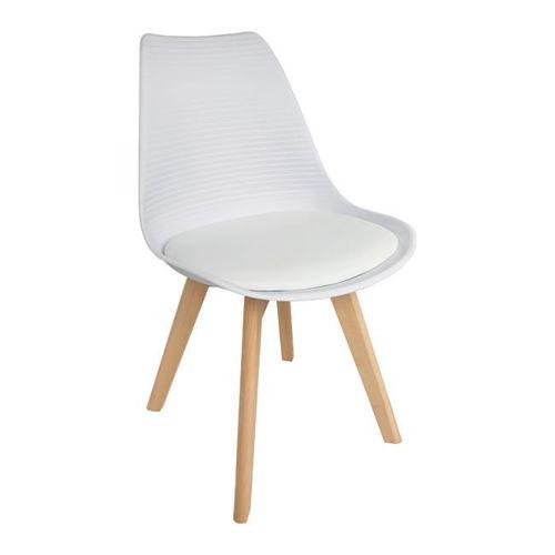 Picture of ( Σετ  4  τμχ.)  Καρέκλα Martin Stripe PU  EM136,14S