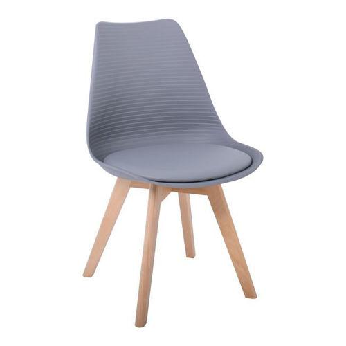 Picture of ( Σετ   4  τμχ. ) Καρέκλα Martin Stripe PU  EM136,44S