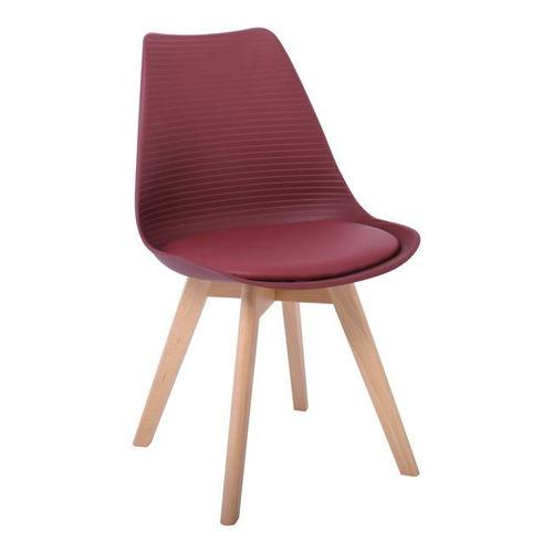 Picture of ( Σετ   4  τμχ. )  Καρέκλα Martin Stripe PU  EM136,02S